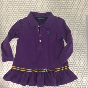 Toddler girl polo. By Ralph Lauren. S 2T
